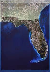 satellite image map florida from space