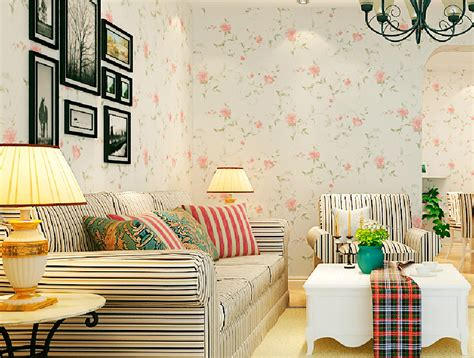decoration for room pastoral style flower wallpaper for mediterranean living room decoration 3d house