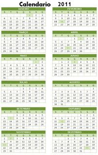 Calendario Giorni Festivi 2011 Italia Italiano Brasileiro Festivi 2011 In Brasile