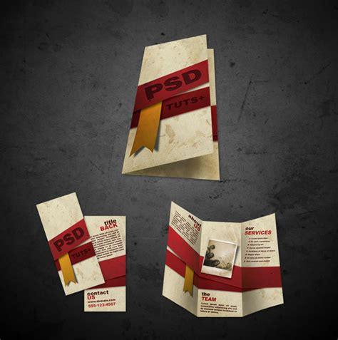 desain brosur vintage design a ready to print brochure in photoshop