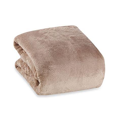 berkshire bedding buy berkshire blanket 174 serasoft 174 supreme throw in chino from bed bath beyond