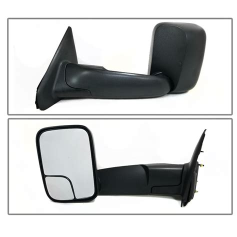 dodge ram 3500 towing mirrors 02 08 dodge ram 1500 03 09 2500 3500 manual adjust telescoping towing mirror pair