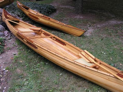 Handmade Canoe - custom the grand cedar canoe by mackinaw watercraft