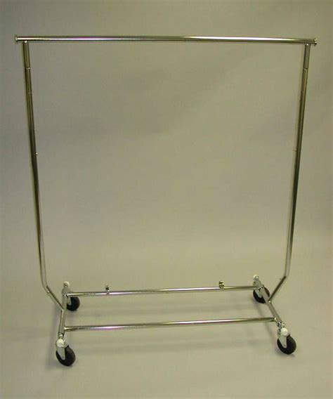 Salesman Rack Collapsible Rolling by Folding Salesman Rack Store Fixture Warehouse