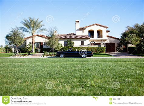 why is my car in the front yard luxurious car parked outside house in front yard royalty