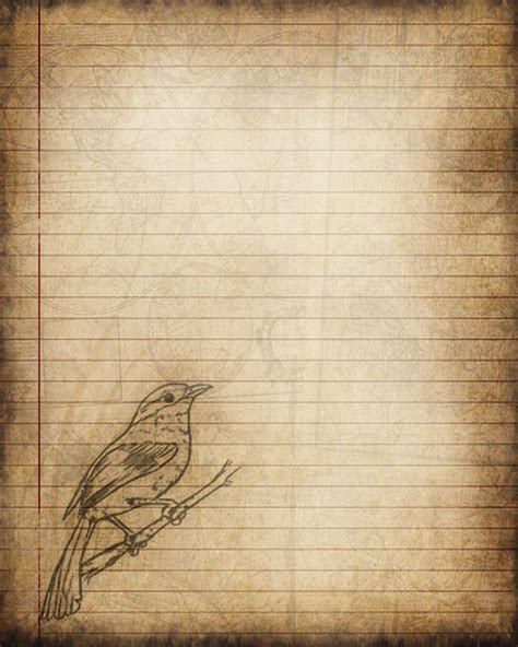 writing a journal paper printable journal page bird digital instant lined