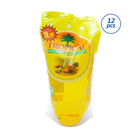 Minyak Goreng Brand 1000ml jual tropical minyak goreng pouch 1000mlx12pcs