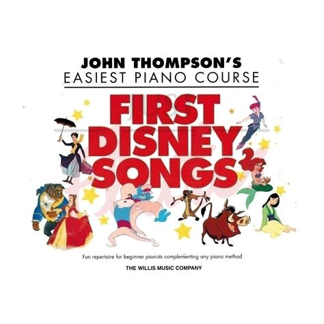 john thompsons easiest piano 0877180164 disney john thompson s easiest piano course first disney songs