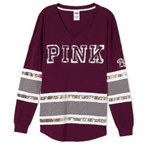 The Vs Varsity T Shirt pink varsity shirt artee shirt