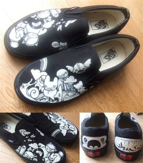 design white vans the hermit design painted vans by thehermitdesign on