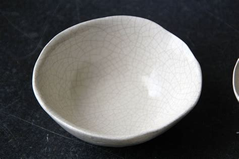 Handmade Porcelain Bowls - handmade porcelain crackle bowl by artisan