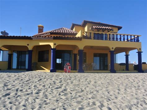 Beachfront House And A Guest House Fully Vrbo House Rentals In Rocky Point Mexico