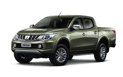 mitsubishi truck 2016 2016 mitsubishi triton revealed gets new 2 4td 6spd