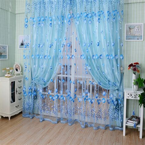 m m curtains 1pc 1m 2m voile curtain chic room tulip flower sheer