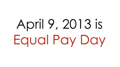 equal pay day show the equal pay day