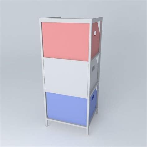 Blue Storage Cabinet colors blue storage cabinet 3d model max obj 3ds fbx