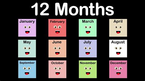Calendar Of This Month Months Of The Year Song 12 Months Of The Year Song