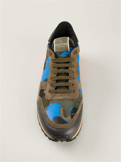 s valentino sneakers valentino rockstud sneakers in green for lyst