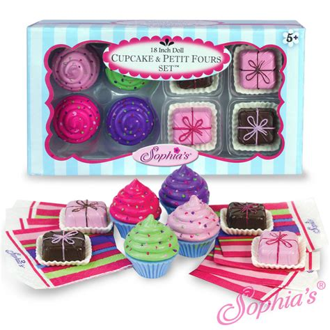 food accessories cupcake and petit fours set fits american 18 quot doll food accessories ebay