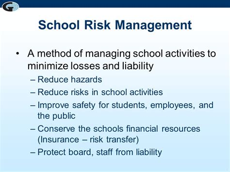 best management school risk management for schools top ten risks and how to