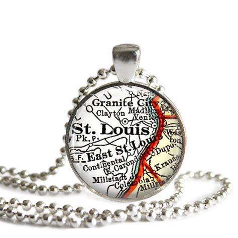 st louis missouri necklace map pendant charm missouri map