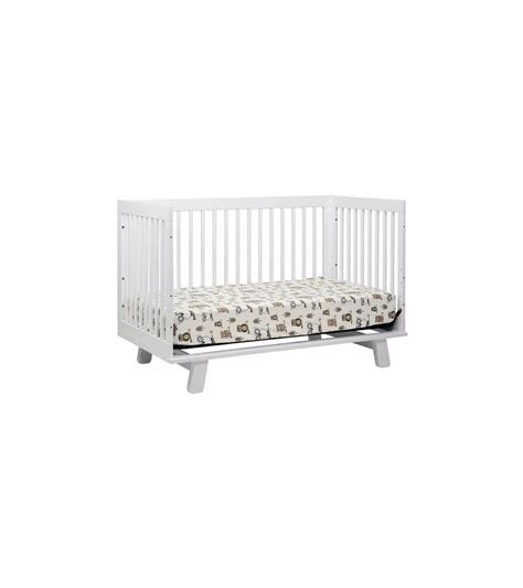 Hudson 3 In 1 Convertible Crib With Toddler Rail Babyletto Hudson 3 In 1 Convertible Crib With Toddler Bed Conversion Kit In White Finish