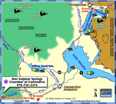 lake colorado map grand lake fishing map colorado vacation directory