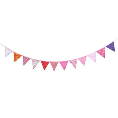 Bunting Flag Banner colorful fabric triangle birthday decoration flags
