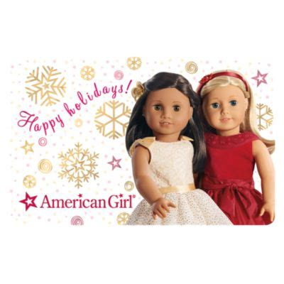 American Girl Gift Cards In Stores - happy holidays gift card giftcards american girl