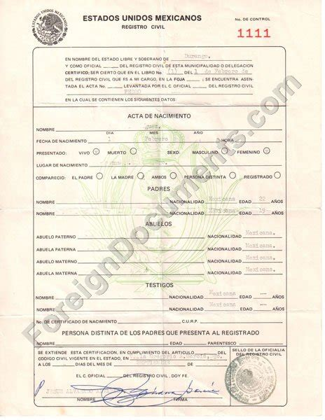 translated birth certificate template best photos of certificate templates