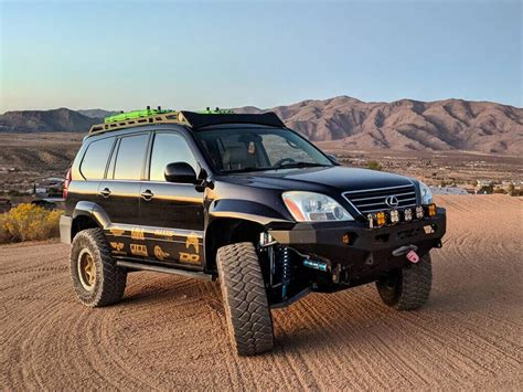 lifted lexus gx460 insane long travel lexus gx470 off road project from sema
