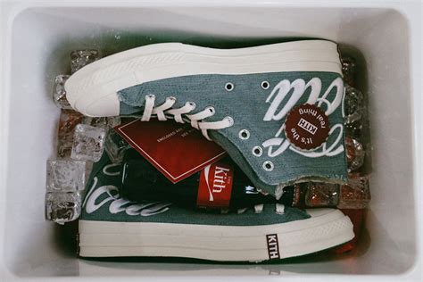 Converse 70s High X Kith X Cocacola White kith x coca cola drop friends family converse sneakers