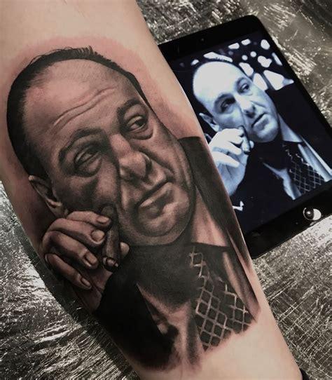 tony soprano s finger tattoo tony soprano portrait by lou bragg tattoo s by lou bragg