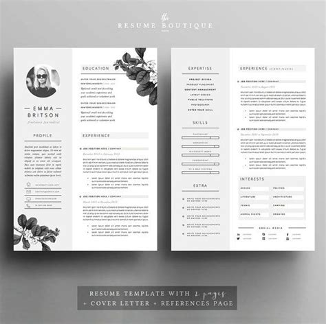 Resume 5 Pages by Resume Template 5 Pages Cv Template Cover Letter