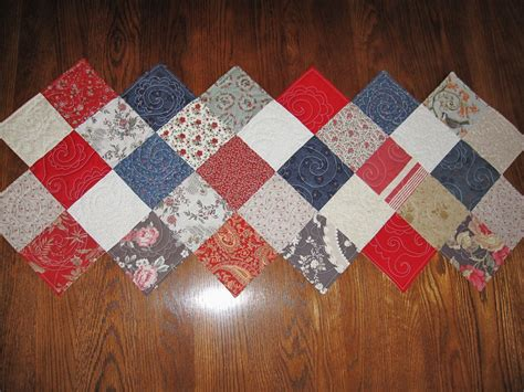 zig zag table runner in the attic zig zag table runner complete