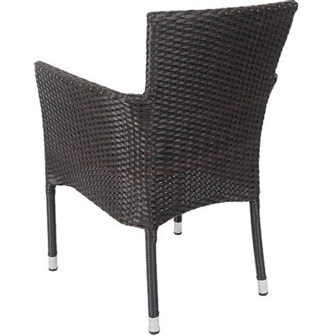 faux wicker chairs vienna patio chair with aluminum frame and faux wicker