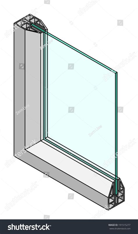 Section Symbol Windows by Cross Section Diagram Of A Single Glazed Window Stock