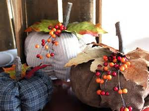 easy sew fabric pumpkins hgtv