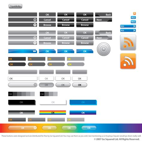 77 vector buttons resources from gosquared