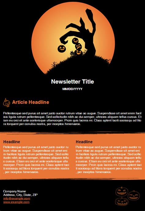 halloween newsletter template released newsmail email