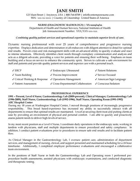 Endoscopy Resume Objective Diagnostic Radiology Resume