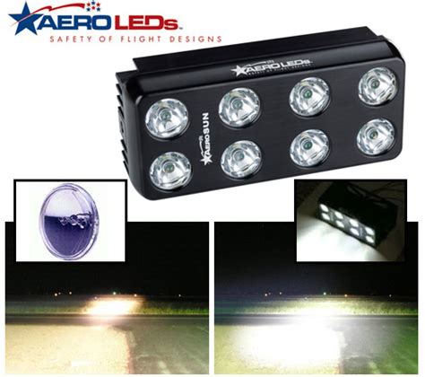 aircraft led landing lights 1600 landing lights for open airflow from aircraft
