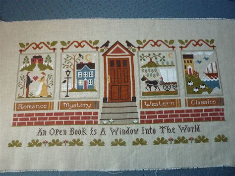 pattern for little library close up little house needleworks the library 1600 215 1200