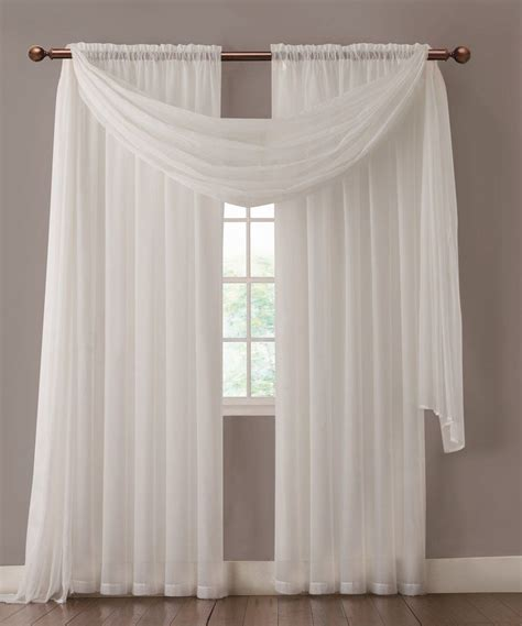 sheer curtain scarf ideas warm home designs pair of white sheer curtains or extra
