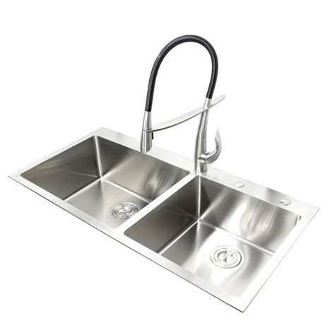 drop in kitchen sink 43 inch top mount drop in stainless steel bowl