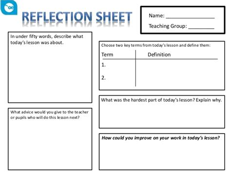 how i teach reflecting on fifteen years in design education books reflection sheet