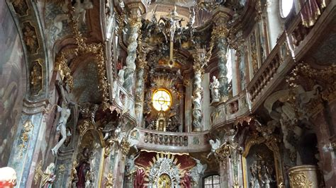 di neuschwanstein interni foto monaco asamkirche viaggi vacanze e turismo