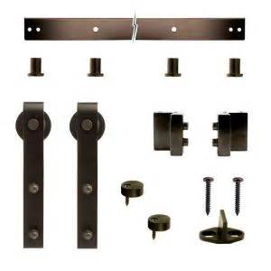 barn door hardware home depot crown metalworks rubbed bronze decorative sliding