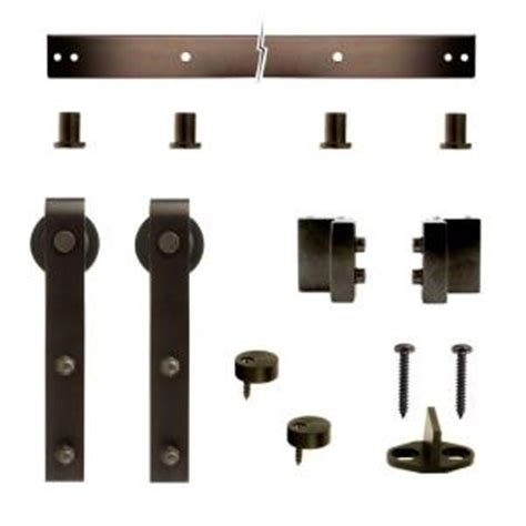 Door Hardware Home Depot by Crown Metalworks Rubbed Bronze Decorative Sliding