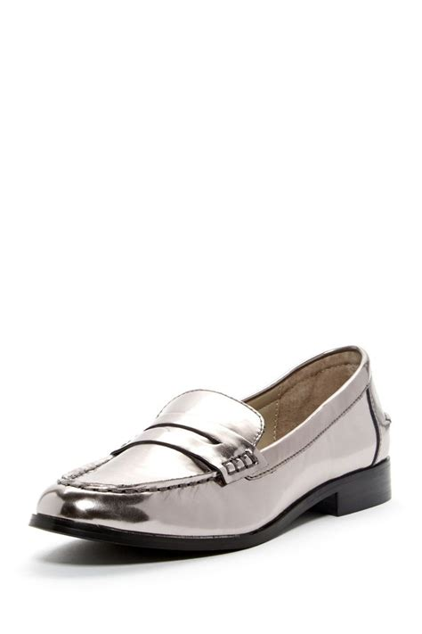 silver loafer style shiny silver loafers silver spoon